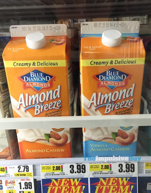 Blue Diamond Almond Breeze Almond Cashew MIlk and Vanilla Almond Cashew Milk