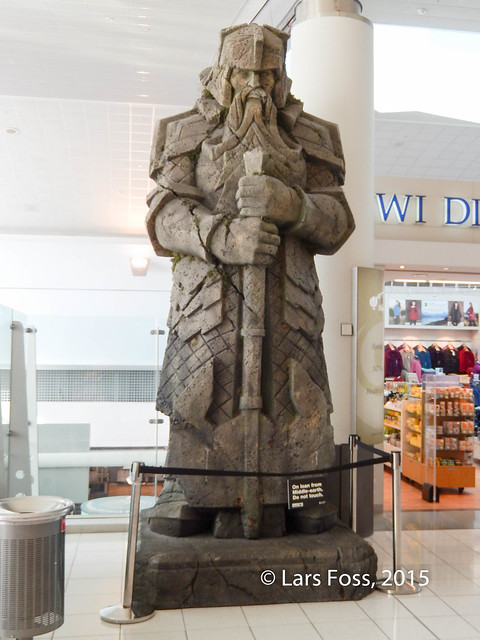 Dwarf statue at Ackland International Airport