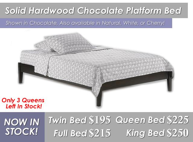 Solid Hardwood Platform Bed