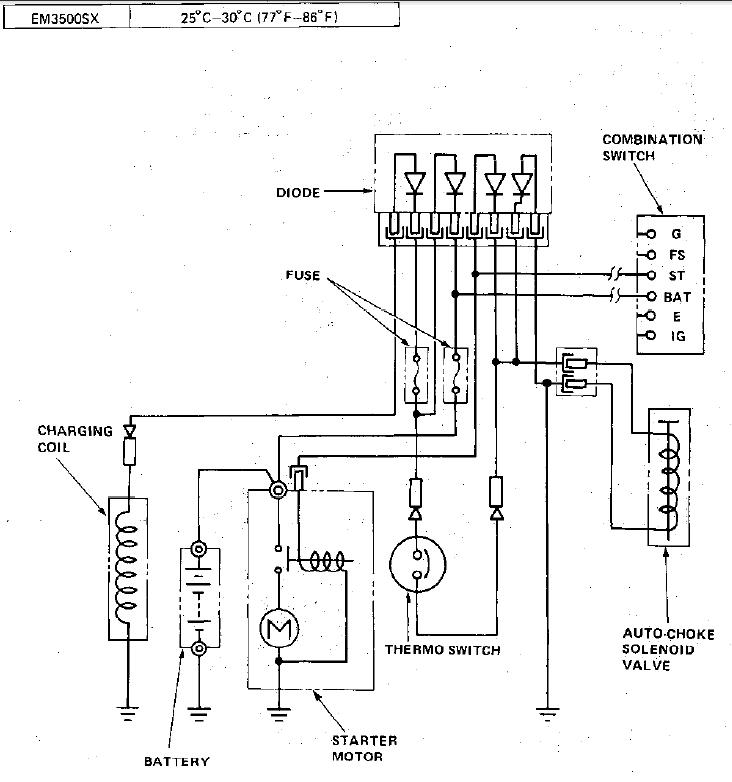 Honda Em 3500sx Generator Parts Diagram. Honda. Auto