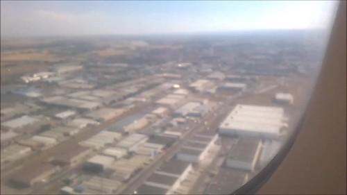 Aterrizando en Madrid y que poco verde hay por allí