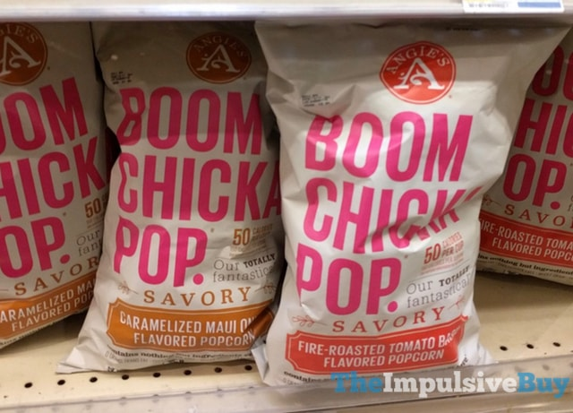 Angie's Boom Chicka Pop Savory Caramelized Maui Onion and Fire-Roasted Tomato Basil Popcorn