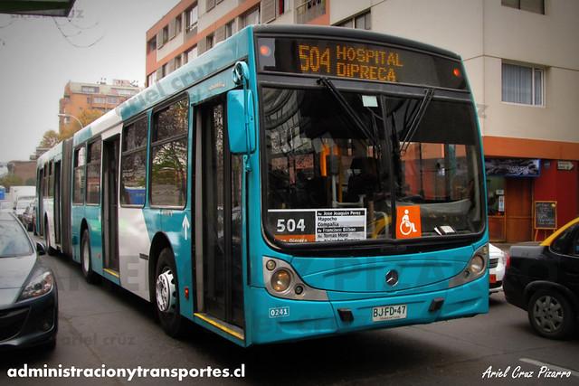 Transantiago - Metbus - Caio Mondego HA / Mercedes Benz (BJFD47) (241)