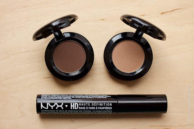 02 NYX Hot Singles Eye Shadow #HS28 Guilt Trip + #HS42 Strike A Pose