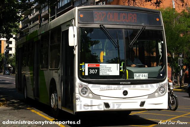 Transantiago - Buses Vule - Caio Mondego H / Mercedes Benz (BJFS64) (81)