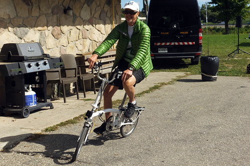 2016 45 Gregs Ride David on folding Brompton_500