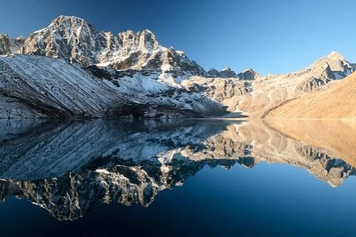 Stillness. Goko Lake reflection.