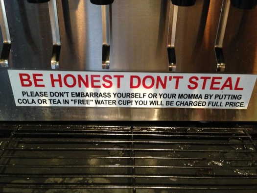 Be Honest Don't Steal Sign