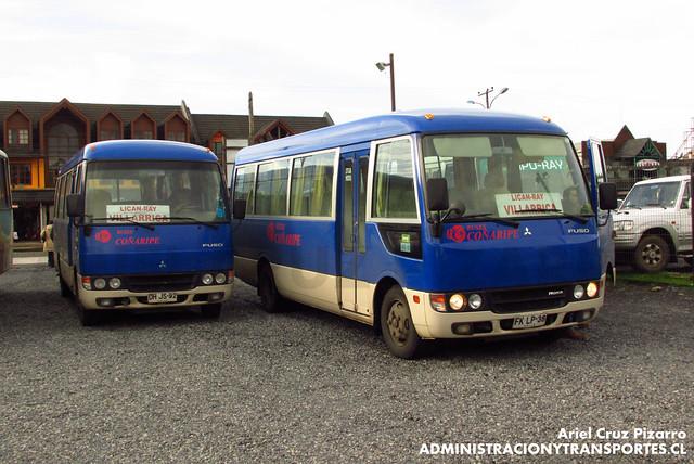 Buses Coñaripe - Villarrica - Mitsubishi Fuso Rosa (DHJG92 - FKLP38)
