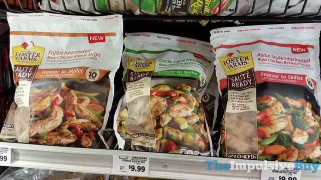 Foster Farms Saute Ready (Fajita, Garlic Herb, and Asian Style)