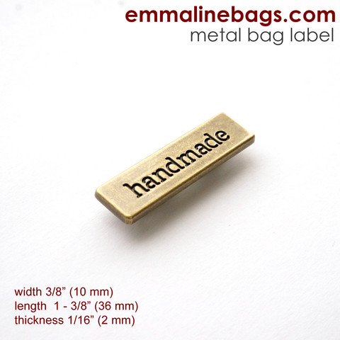 bag label from emmaline bags