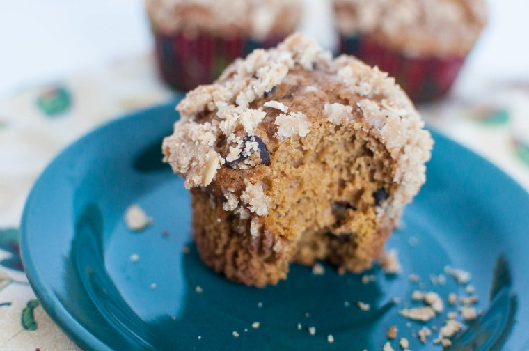 Pumpkin Muffins with Streusel Topping 5
