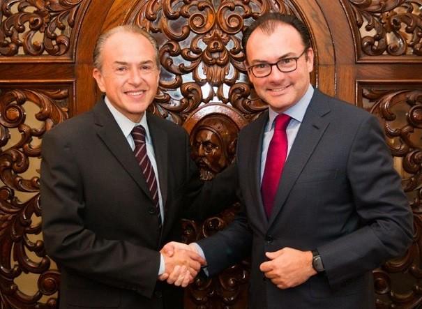 Videgaray se reúne con gobernador electo de San Luis Potosí