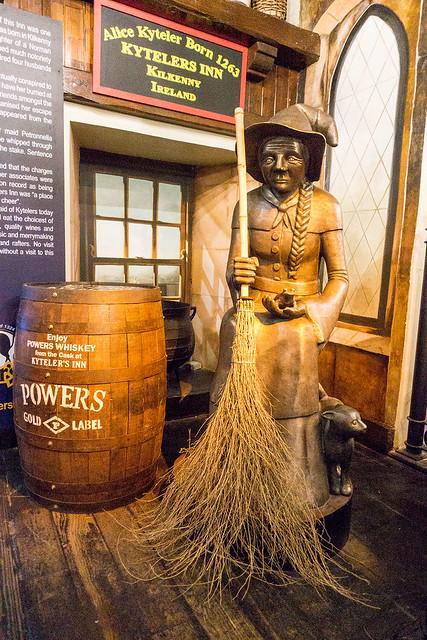Alice Kyteler statue inside her inn.