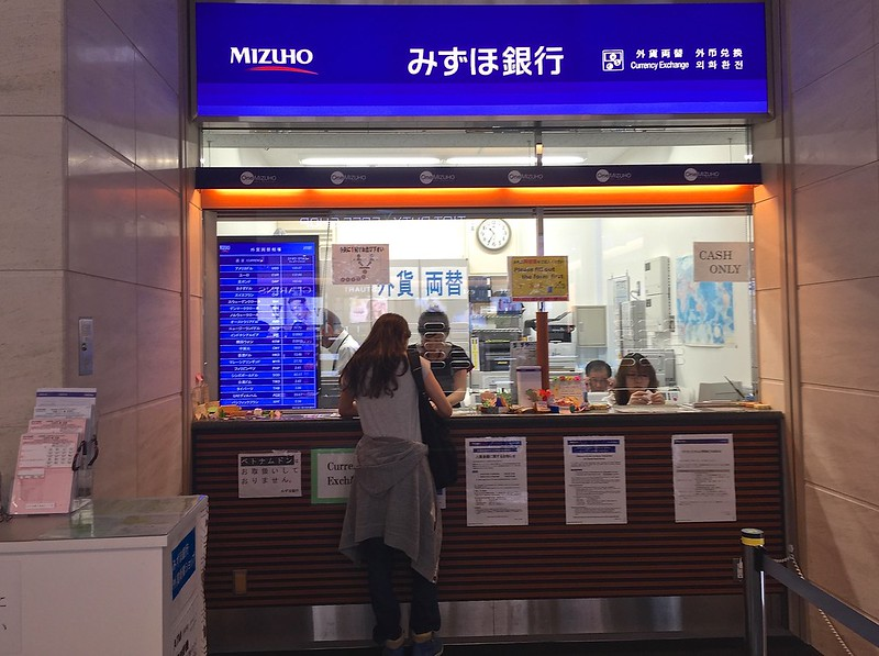 Currency Exchange counter from Mizuho at Haneda Airport