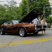 1974 Dodge Charger Rallye at the 2014 River Edge Car Show