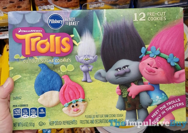 Pillsbury Dreamworks Trolls Cutout Sugar Cookies