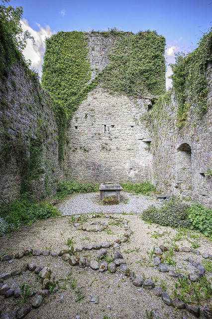 Inside the remains of the Three Castles church.