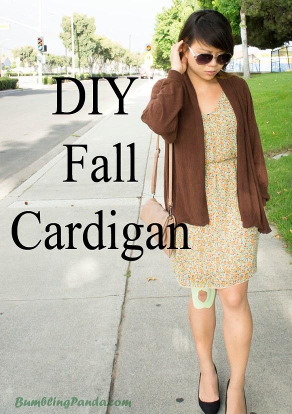 DIY Fall Cardigan