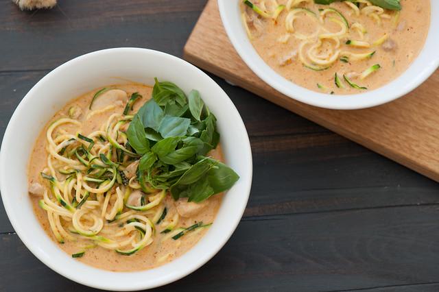 Zucchini Noodle Laksa