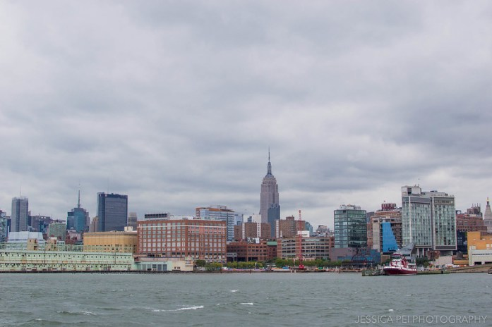 New York Skyline by Hudson River
