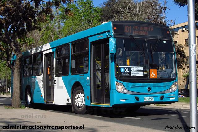 Transantiago - Metbus - Caio Mondego H / Mercedes Benz (CJRB29)