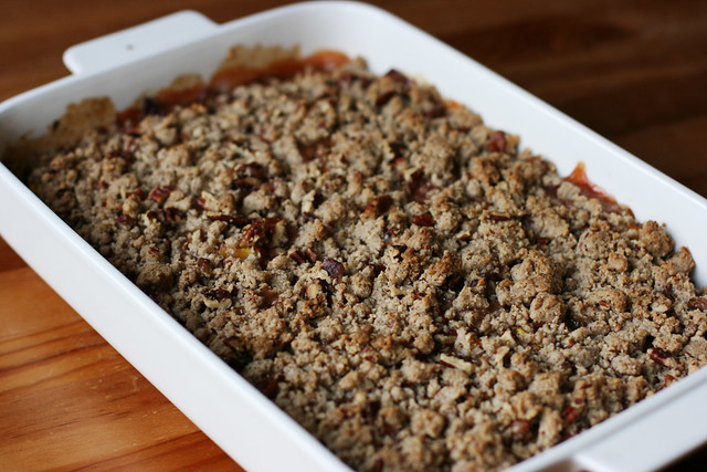 Peach and Pecan Crumble