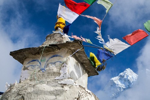 Stupa above Dingboche