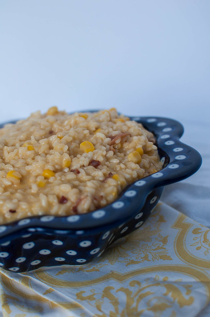 Sweet Corn, Bacon and Cheddar Risotto 3