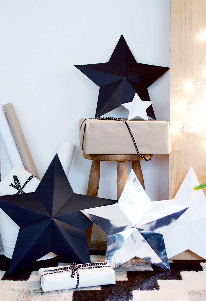 DIY 3D Star Decorations Gift Boxes A Pair & A Spare