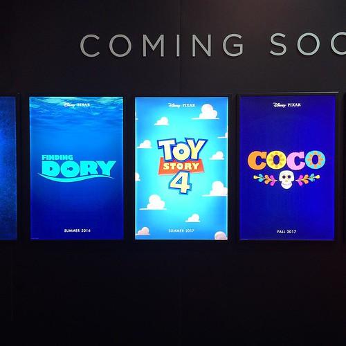 ピクサーの今後の公開予定まとめると、Finding Doryは2016年夏、Toy Story4が2017年夏、COCOが2017年秋公開。