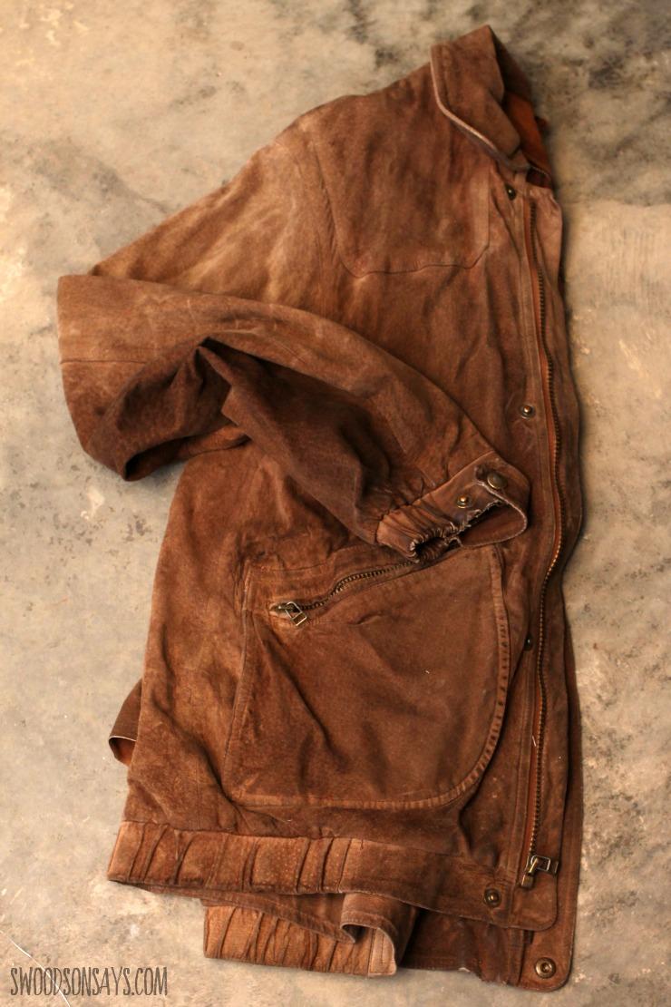 leather jacket upcycle