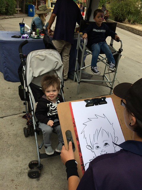 getting a caricature