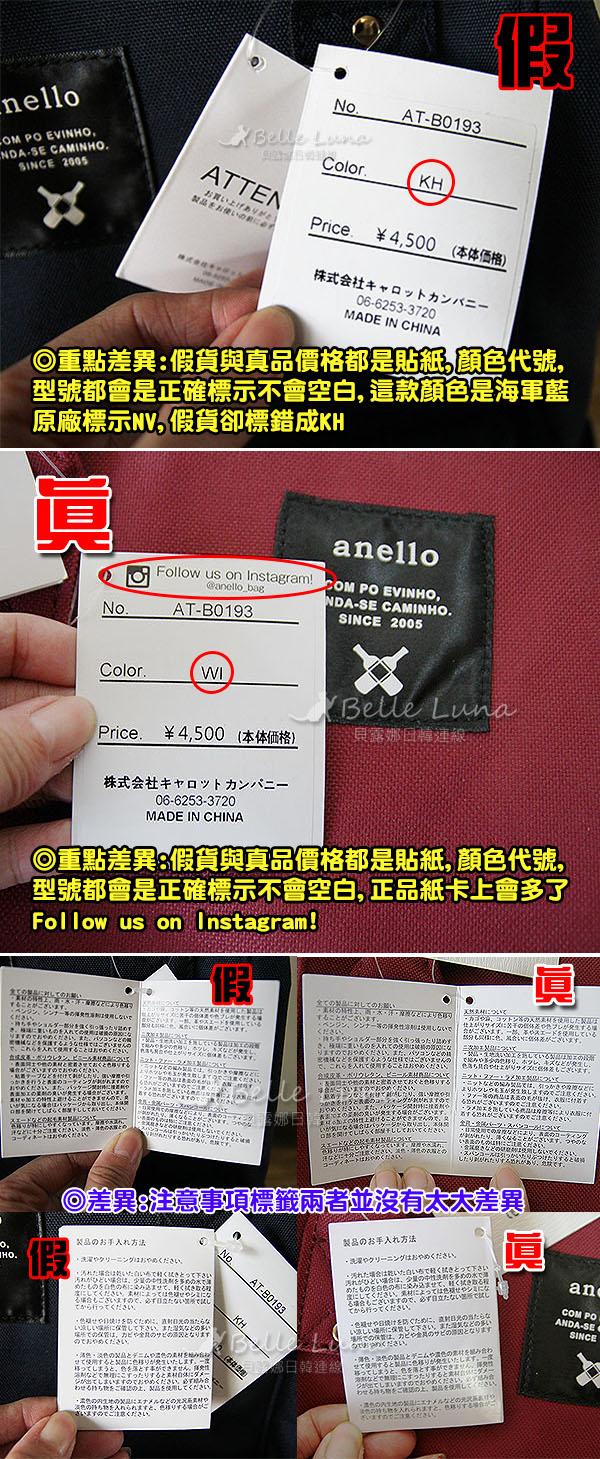 【真假比一比】♥日本藥妝失心瘋推薦♥ 如何分辨anello包 第一彈 尼龍材質 @ K&S 桂桑與莎妹 :: 痞客邦