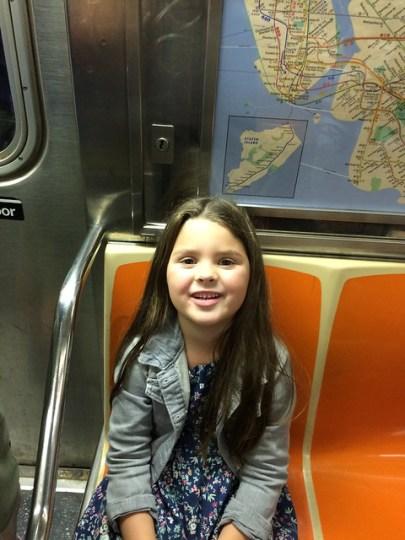 on the subway!