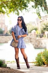 Chambray Dress + Cowboy Boots