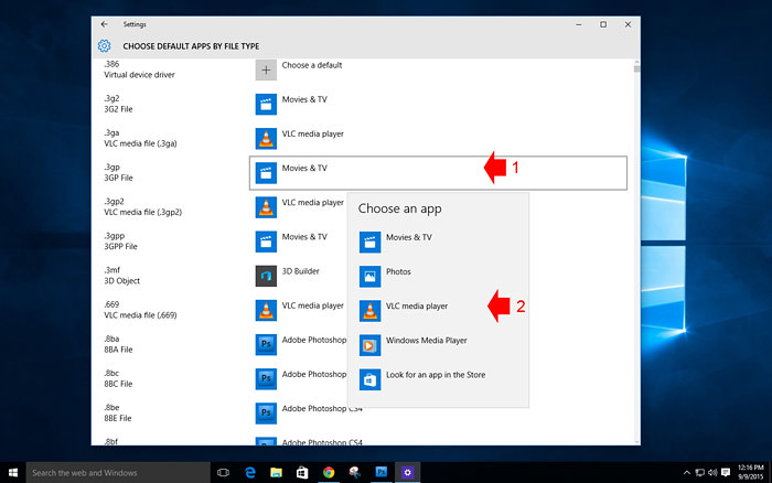 How to customize default App in Windows 10-4
