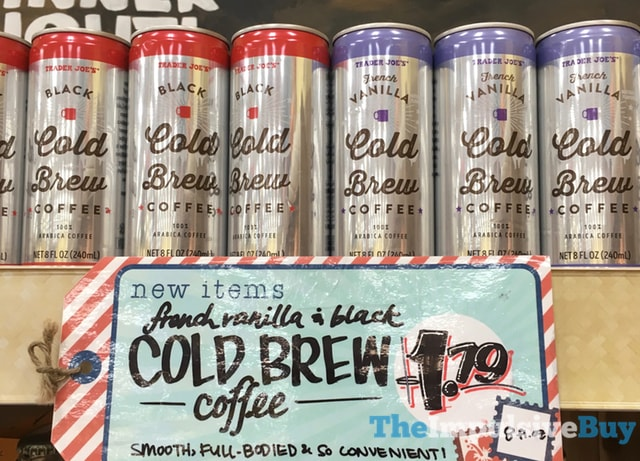 Trader Joe's Black and French Vanilla Cold Brew Coffee