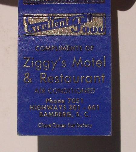 Ziggy's Motel Match book