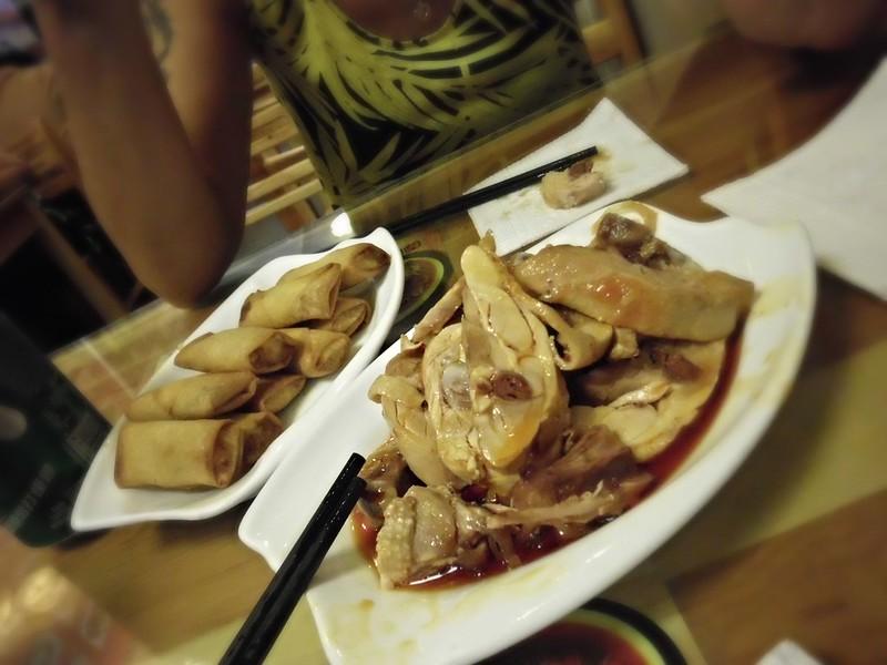 Spicy chicken and dumplings in Beijing