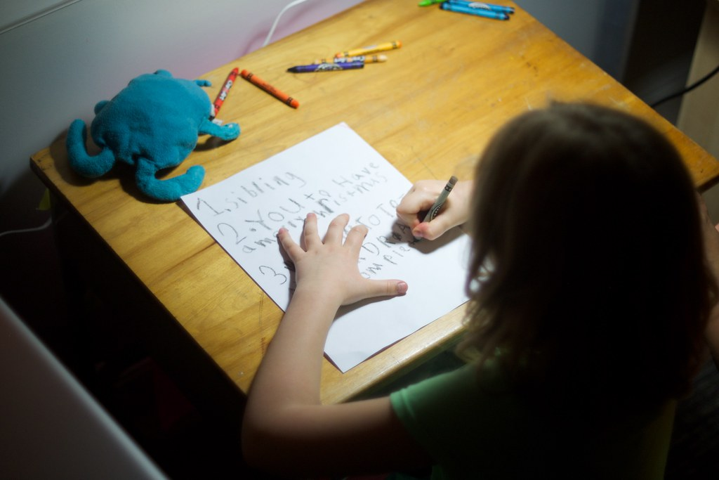 composing a letter to santa