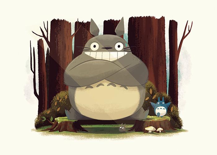 Totoro Splits by Christopher Lee