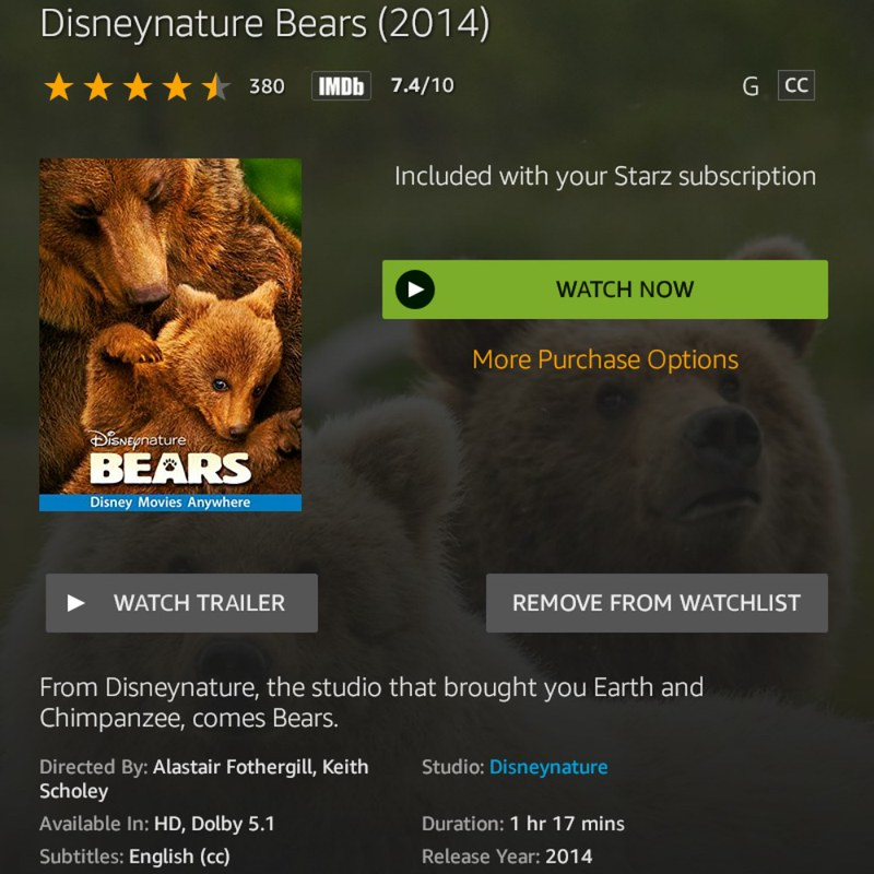 Disneynature Bears (2014): 10 Great movies that you need to watch and celebrate New Year's Eve