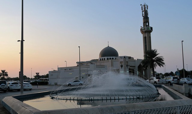 masjid al kauthar outside with fountain