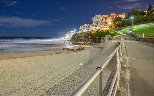 Bondi Beach at night - southern end