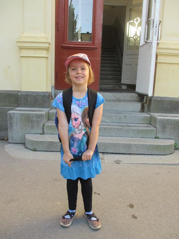 Avas första dag i första klass!