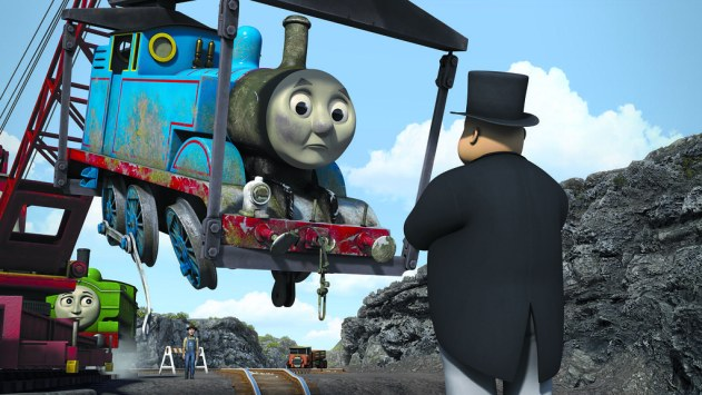 Looks like Thomas is in a bit of a scrap with the Fat Controller. Source: Snap! Entertainment