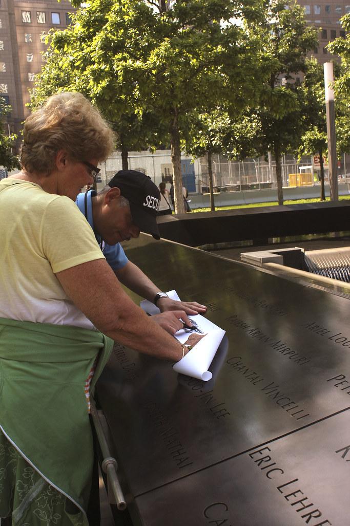 Couple at 9/11 memorial