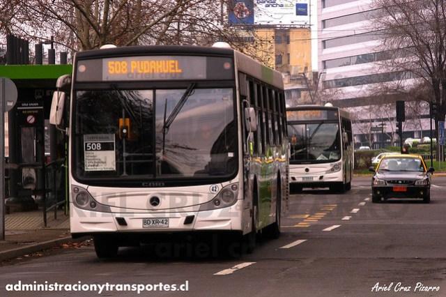 Transantiago - Metbus - Caio Mondego H / Mercedes Benz (BDXR42)