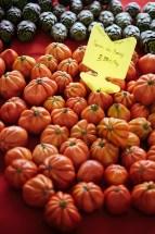 Market in Lourmarin: coeur de boeuf tomatoes (and artichokes)